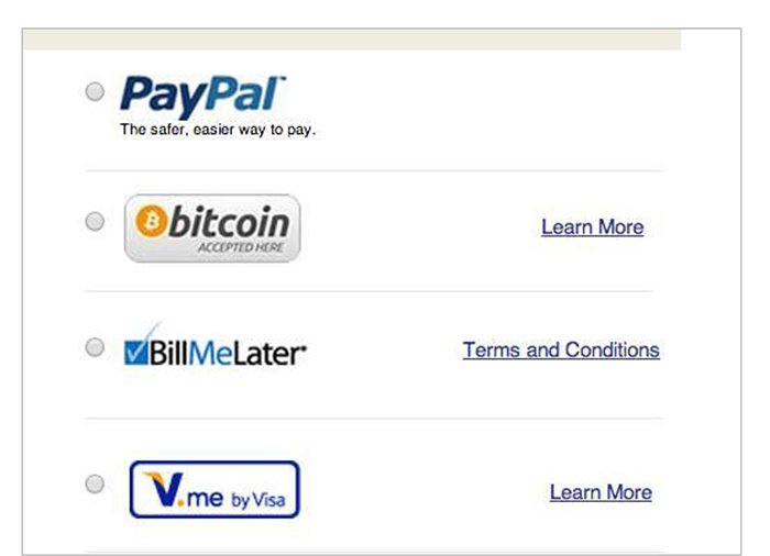 Bitcon Merchant Checkout option